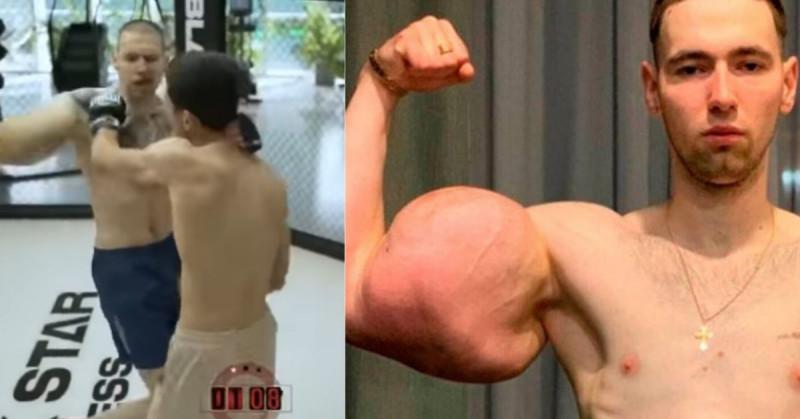 "Le explota el brazo a ""Popeye"" ruso en plena pelea (video)"