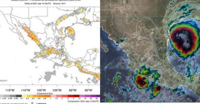 Clima lunes: Tormentas eléctricas para esta tarde-noche y 40% posible ciclón en el Pacífico