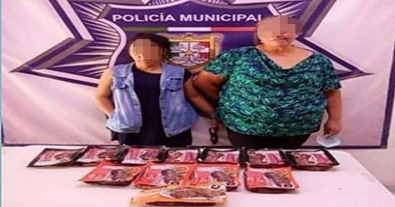 Se cancela la carnita: detienen a Cecilia y a Adriana robando 15 paquetes de arrachera