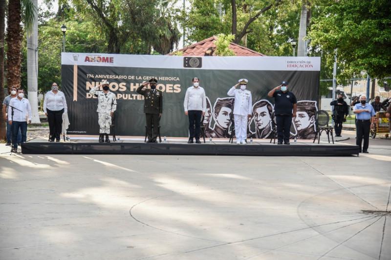 Conmemoran el 174 aniversario de la Gesta Heroica de los Niños Héroes de Chapultepec