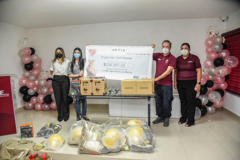 Recibe PC Ahome equipamiento nuevo en donación por empresa privada