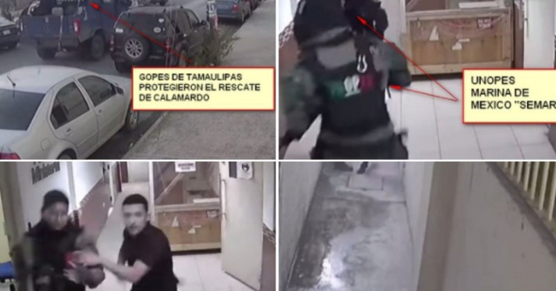 "Sicarios ingresan a Policía Ministerial de Tamaulipas para liberar a ""El Calamardo"" (video)"