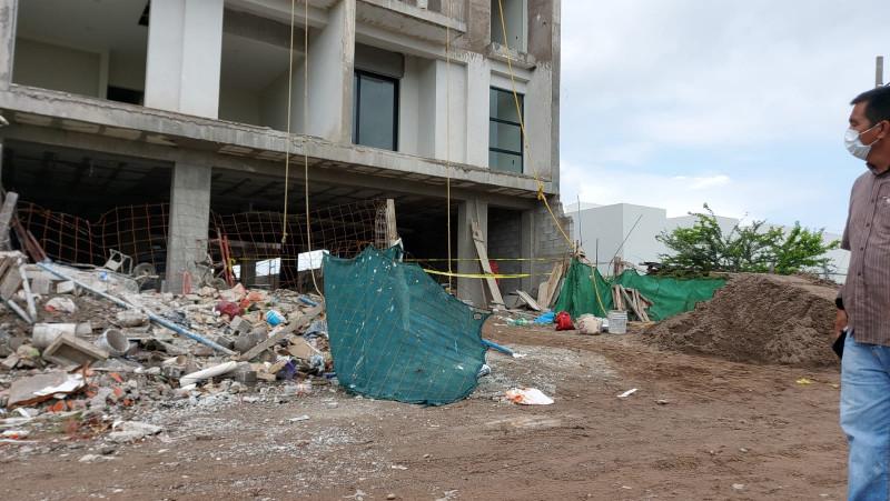 Muere trabajador de la construcción, se cae del quinto piso