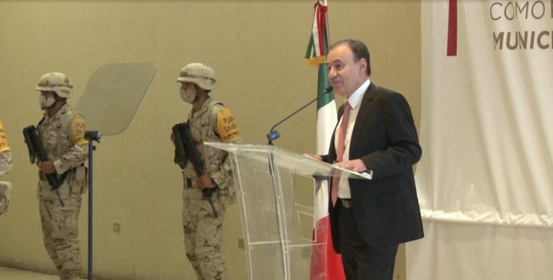 Respalda Durazo a Javier Lamarque durante su primer mensaje como alcalde de Cajeme