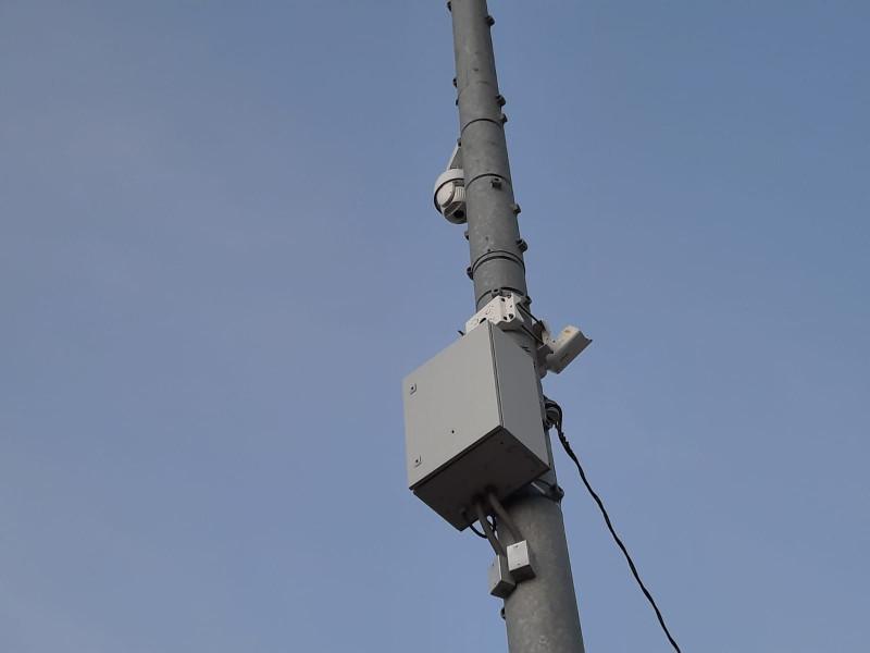 Segundo fin de semana que destruyen cámaras de seguridad a balazos