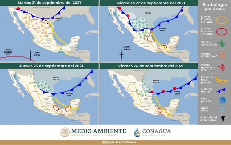 Ingresa primer frente frío al país; en Sinaloa siguen temperaturas calurosas
