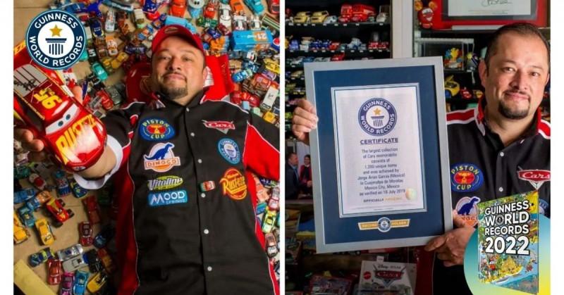 """Mexicano entra en los Guinness World Records por su colección de """"Cars"""""""