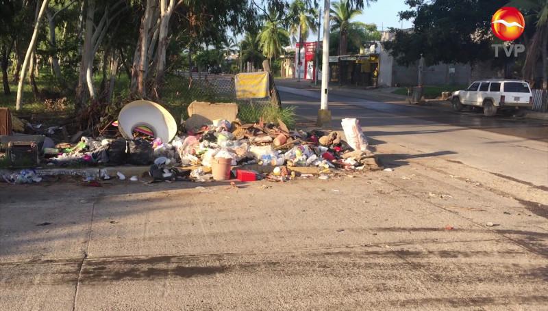 Toman área verde como vertedero de basura en Colonia Bahía