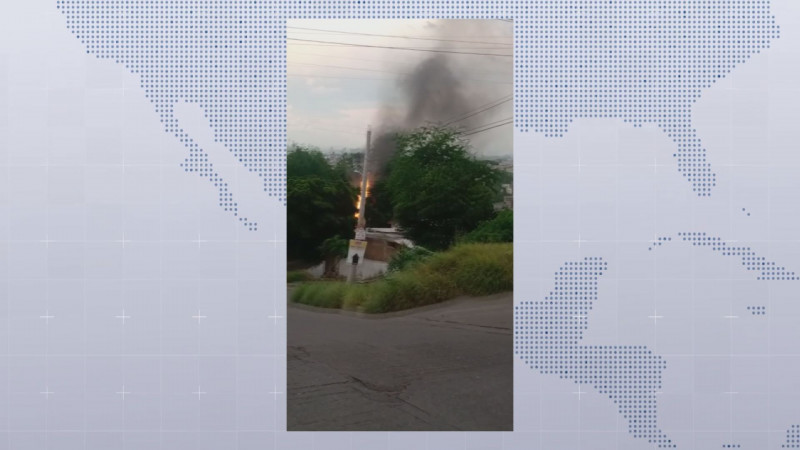 Tras accidente se incendia pipa de GAS LP