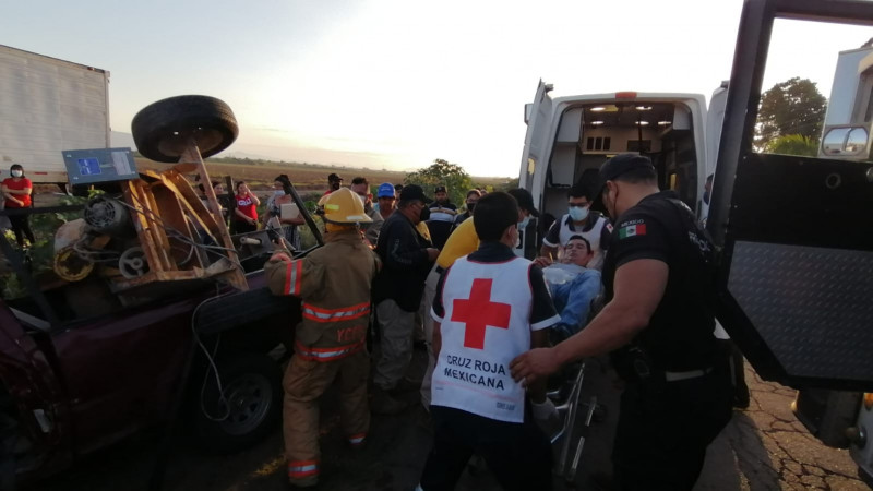 Accidente deja una personas lesionada