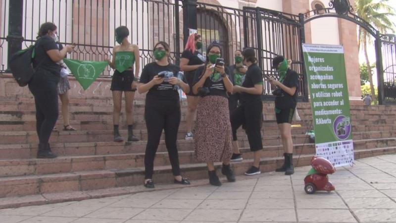 Se manifiestan a favor de la despenalización del aborto en Culaicán