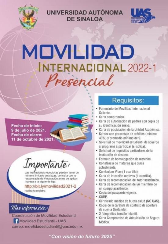Abiertas las convocatorias de Movilidad Estudiantil Nacional e Internacional 2022-1