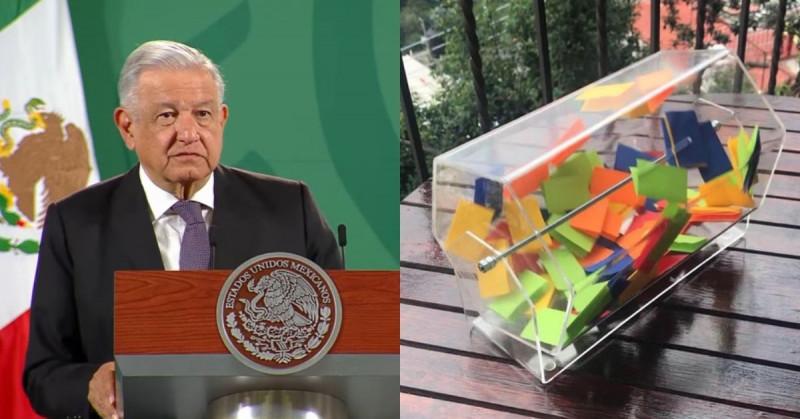 """López Obrador propone una tómbola para dar turnos a periodistas en su """"mañanera"""""""