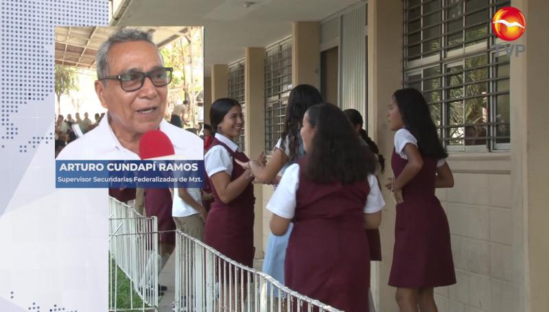 Secundarias federales en Mazatlán regresarían tentativamente el 18 de octubre a clases presenciales