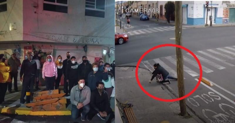 Poblanos se rinden ante la ciclovía y la quitan para evitar tropiezos