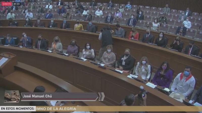 Instalan la 64 legislatura del Congreso del Estado