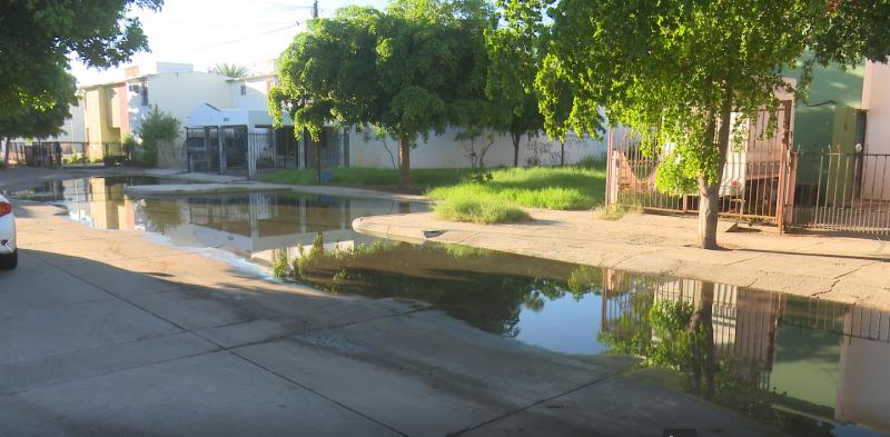 Reportan vecinos del Fovissste 2 afloramientos de aguas negras