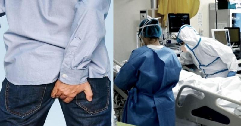 """Hombre desarrolla """"síndrome del ano inquieto"""" después de hospitalizarse por Covid-19"""