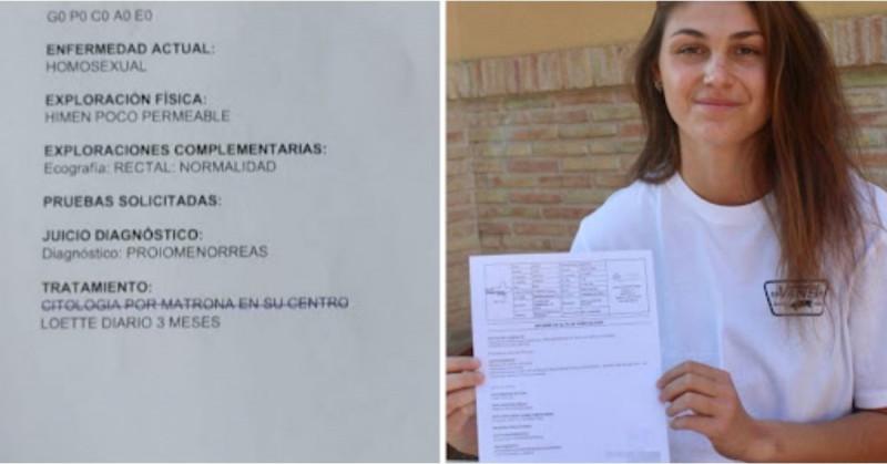 "Indigna ginecólogo que diagnostica como ""homosexual"" a joven de 19 años"