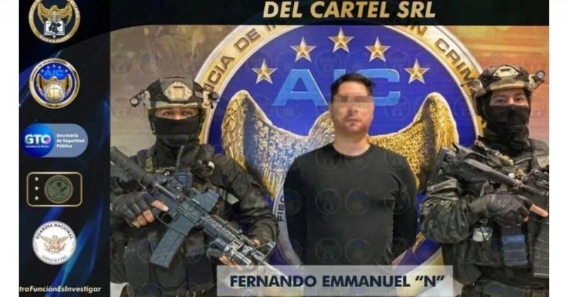 Detienen al nuevo líder del Cártel Santa Rosa de Lima en Guanajuato