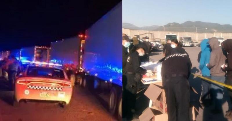 Interceptan tres tráileres en Tamaulipas que transportaban 652 migrantes hacinados