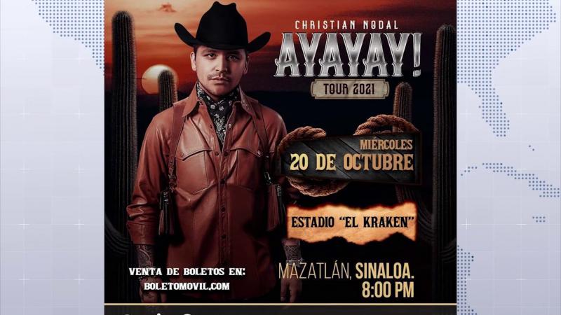 El 20 de Octubre Cristian Nodal dará concierto en Mazatlán