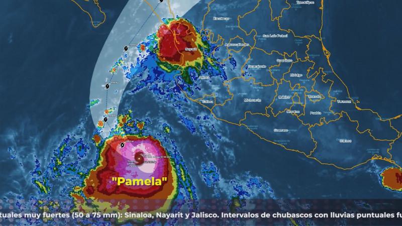 """De impactar """"Pamela"""" a Sinaloa generaría serias afectaciones"""