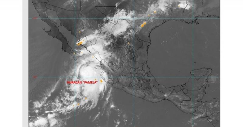 """""""Pamela"""" se debilita a Tormenta Tropical, pero se espera retome fuerza esta noche"""