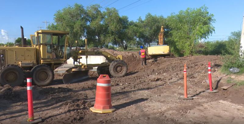 Lluvias retrasan obras en proceso en el municipio de Ahome
