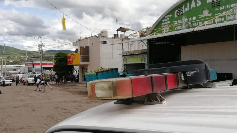 Balacera en pleno Mercado de Abastos de Culiacán