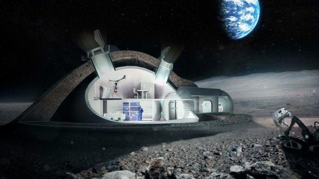 Alunizaje para establecer bases lunares