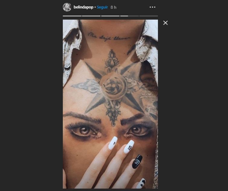 ¿Qué les hará? Nodal se tatúa los ojos de Belinda en el pecho y las redes recuerdan los de Criss Angel y Lupillo
