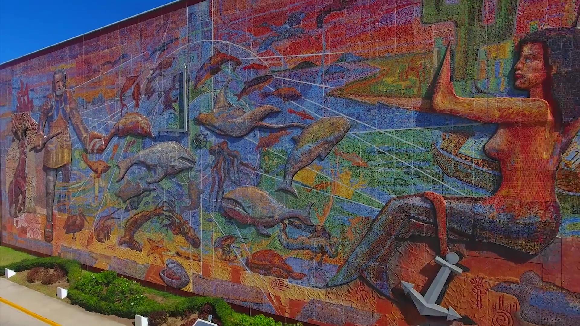 vista del Mural de Mazatlán