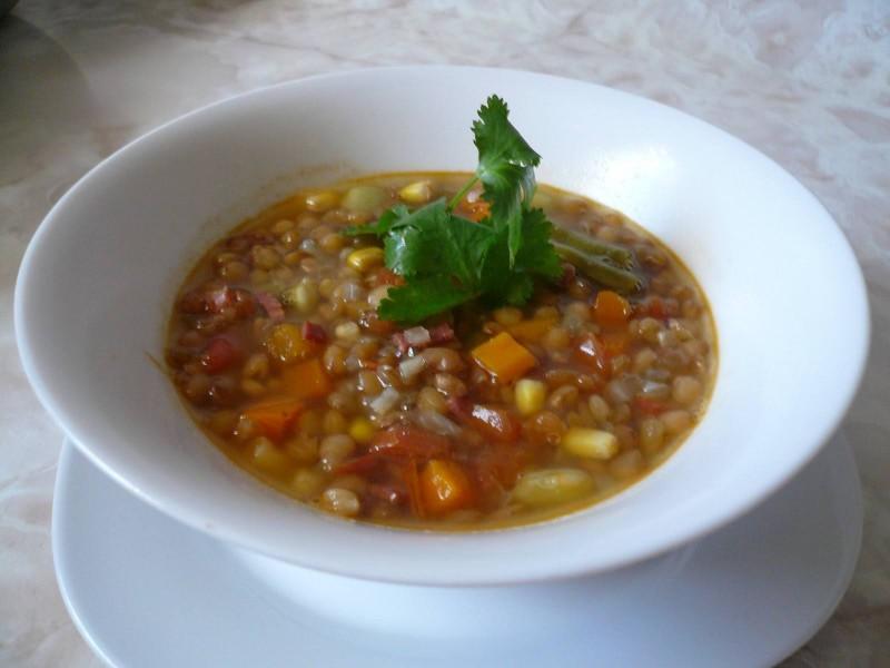 Sopa de Lentejas con Vegetales