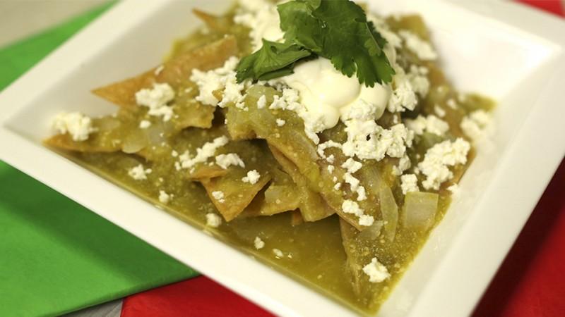 Chilaquiles en salsa verde