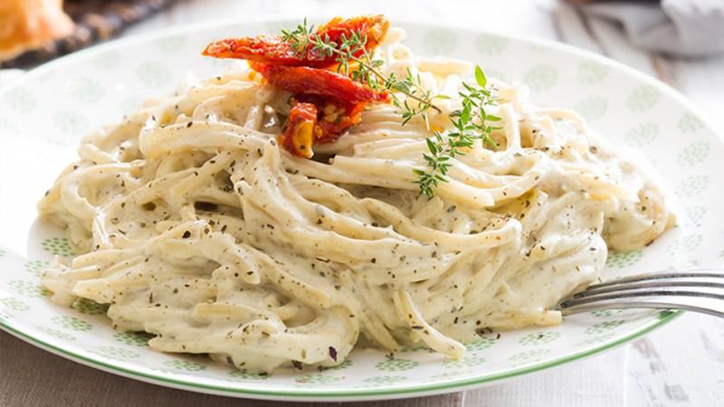 Receta de espagueti blanco