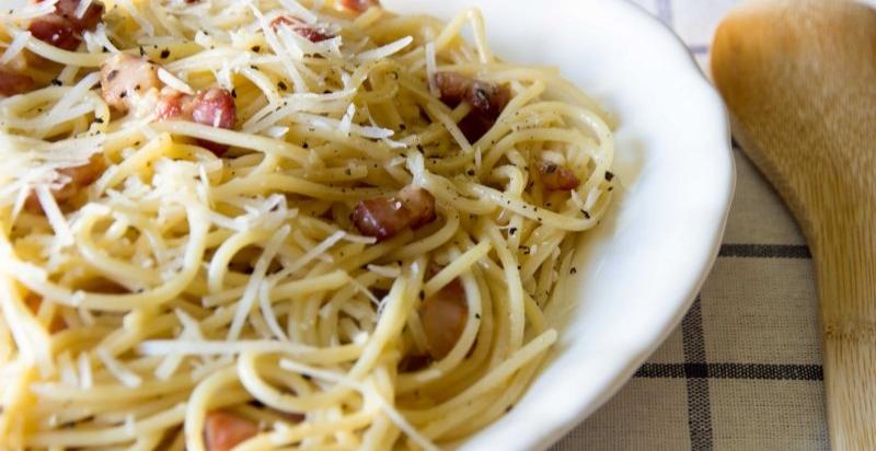 Espagueti a la Carbonara receta