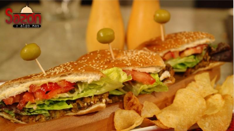 Hamburguesas de hongos veganas