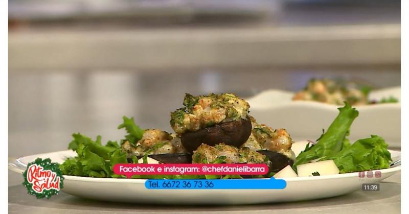 Encanta el paladar de tus invitados con estos champiñones rellenos de camarón (video receta)