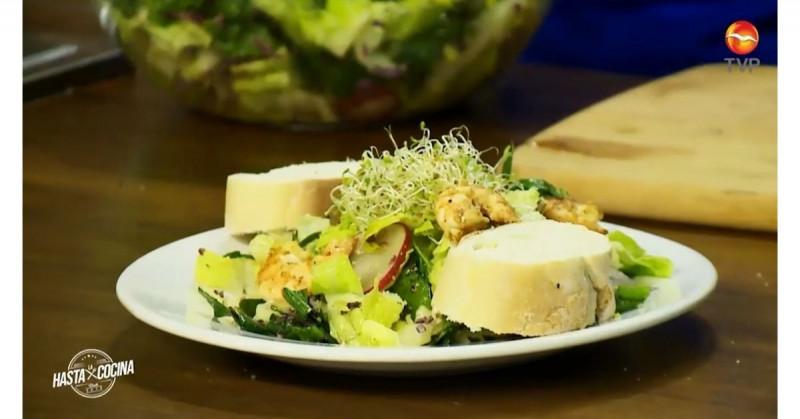 No te puedes perder esta receta de ensalada de camarón (video)