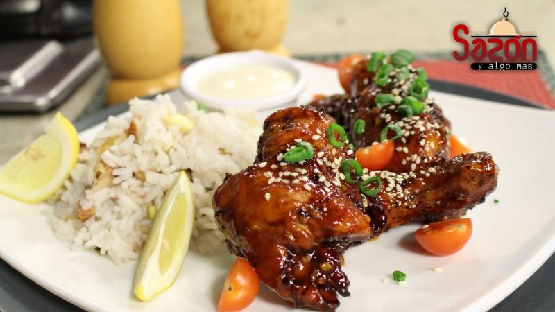 Alitas de pollo, estilo Thai