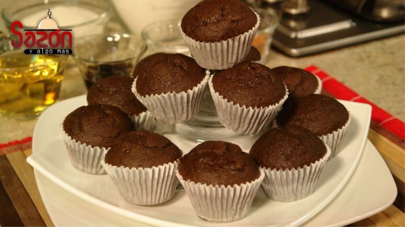 Muffins  de chocolate y vainilla