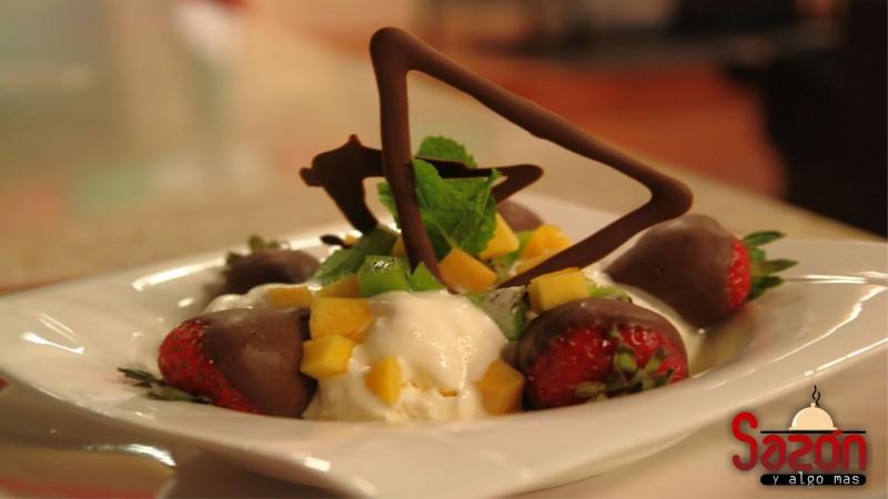 Esferas de chocolate a la mexicana